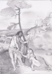 drawing_-_pencil_-_Nat_Gall_-_titian_new_me_tangere_1514