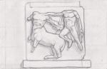 Pencil drawing - Frieze - British Museum