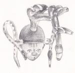 Pencil drawing - Masks - British Museum