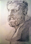 Bust from British Museum (pencil)