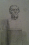 Bust from from British Museum (silverpoint)