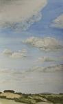 Watercolour - French cloud landscape