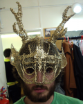 The stag mask